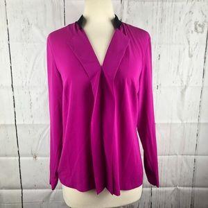 Calvin Klein Magenta silky blouse
